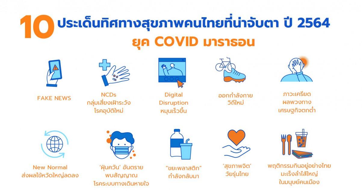 10 ประเด็นทิศทางสุขภาพคนไทยที่น่าจับตาปี'64